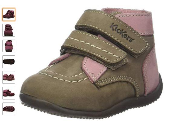 bottines de marches chaussures premier pas bebe fille confortable pas cher