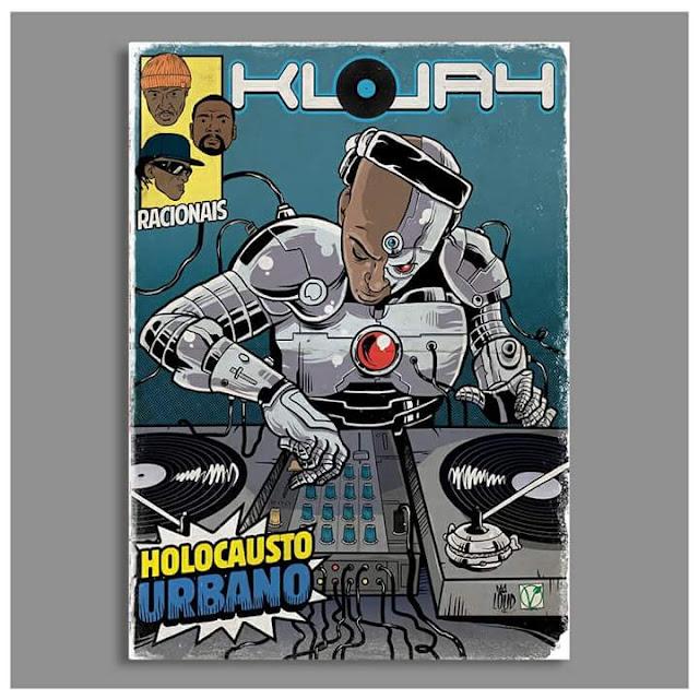 Rap em quadrinho - KL Jay é retratado como Cyborg, um dos heróis da DC Comics.