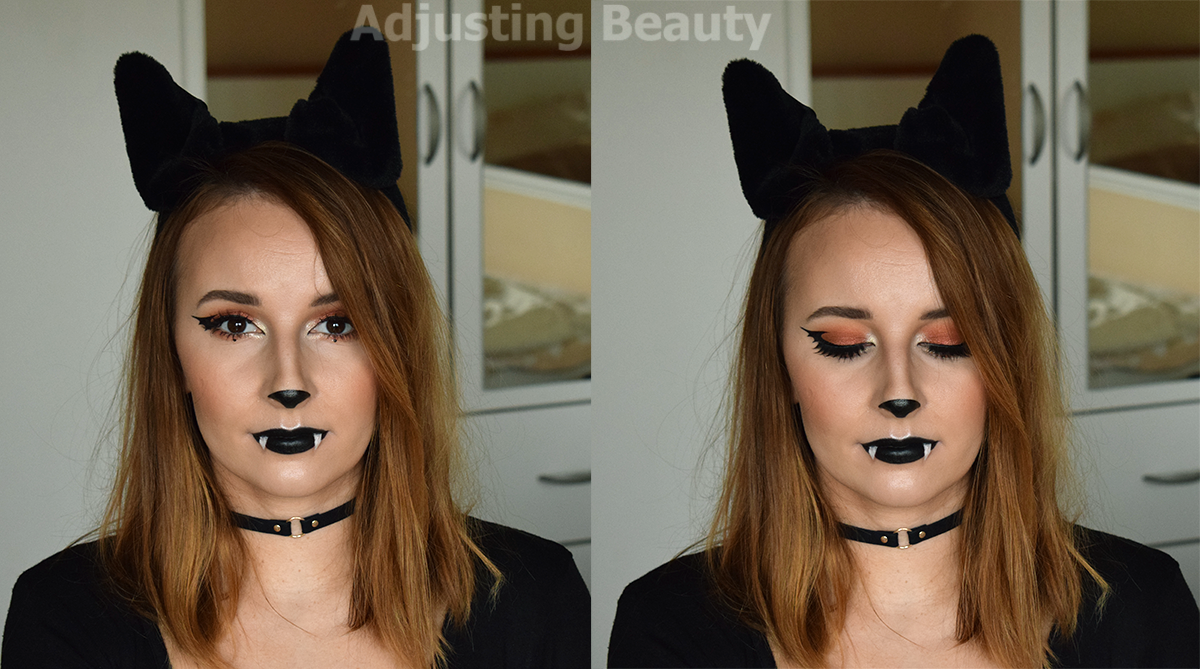 Bat Makeup Halloween Costume.Cute Bat Halloween Makeup Adjusting Beauty