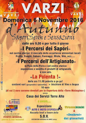 D'Autunno Sapori,Sensi e Sensazioni 6 Novembre Varzi (PV) 2016