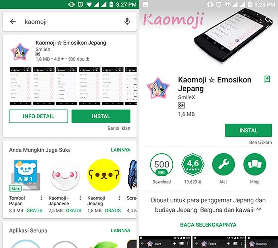 download and install the Kaomoji - Japanese Emoticon app