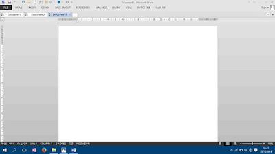 Tampilan Word 2016 dengan office tab