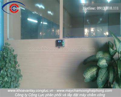 Hoàn thành lắp đặt máy chấm công tại đường 5 mới, Hải Phòng - công ty Việt Trang.
