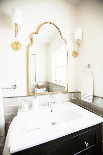 Live Laugh Decorate September - Gold bathroom sconces