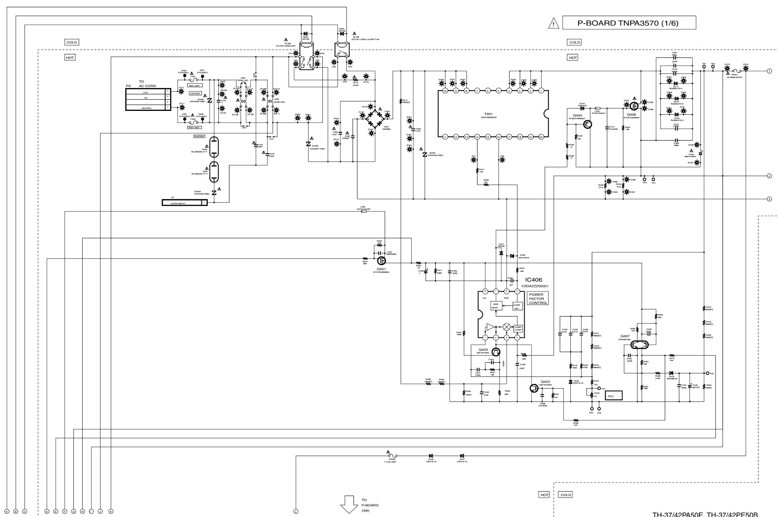 medium resolution of panasonic plasma tv th42 th37 power board schematic schematic panasonic plasma tv circuit diagram panasonic plasma tv diagram