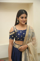Niveda Thomas in Lovely Blue Cold Shoulder Ghagra Choli Transparent Chunni ~  Exclusive Celebrities Galleries 068.JPG