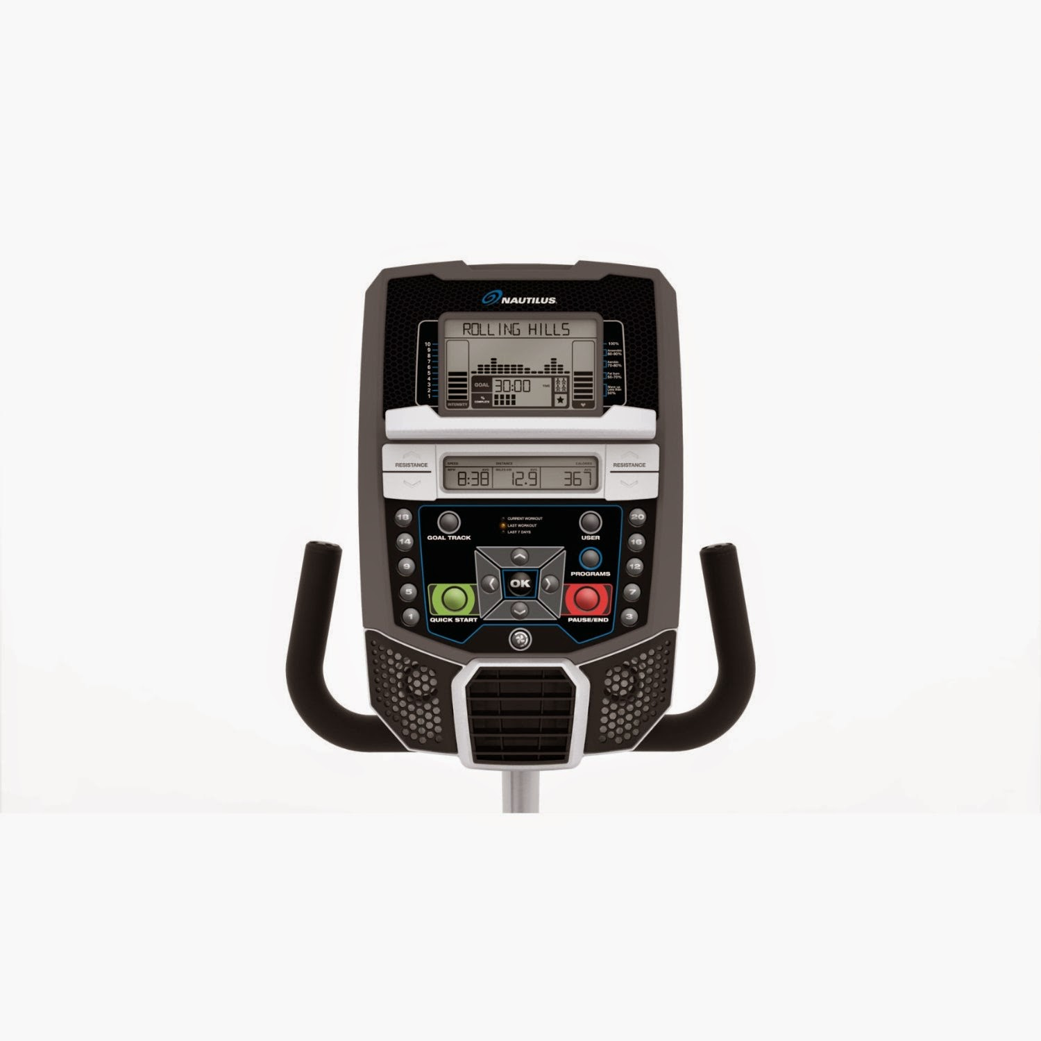 Nautilus R614 Dual Track LCD console display