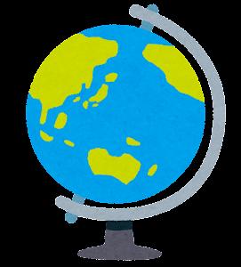 地球儀のイラスト(日本中心)