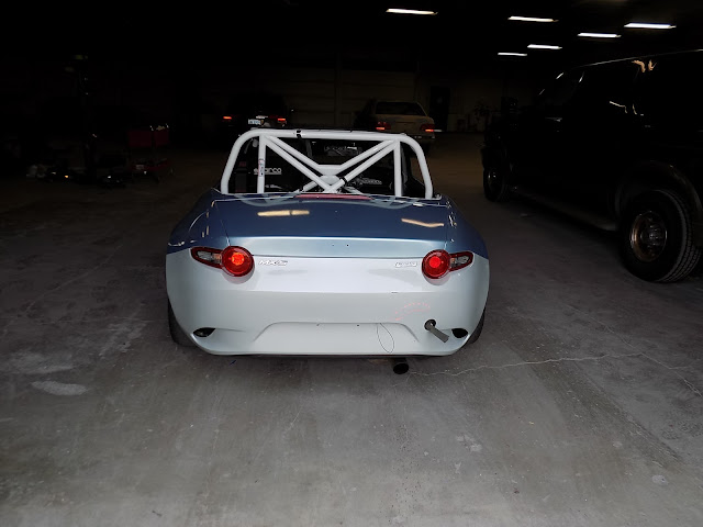 Mazda Miata Race Car before complete body paint at Almost Everything Auto Body.