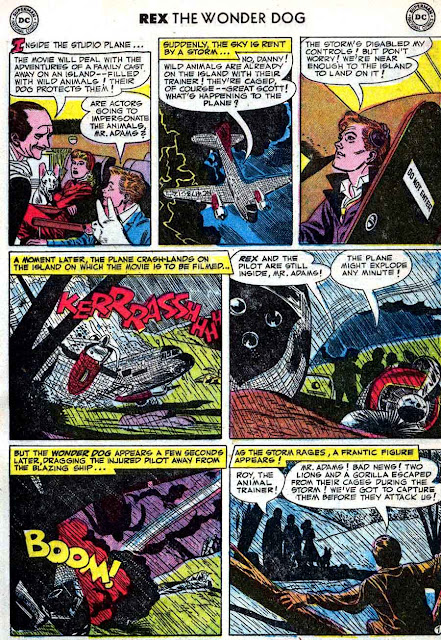 Adventures of Rex the Wonder Dog v1 #2 dc 1950s golden age comic book page art by Alex Toth