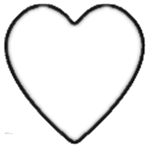 Valentine Heart Line Art For The   Printable Size Click Here   Return To The Coloring Pages Index