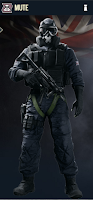Portrait of Mute - Rainbow Six Siege Operator