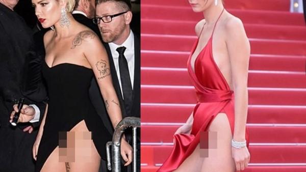 """Những pha váy khoét xẻ cao làm """"lộ hàng"""" khiến mỹ nhân muốn độn thổ"""
