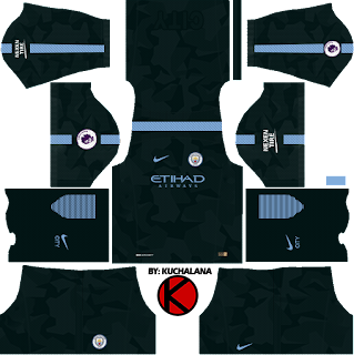 Manchester City third Kits 2017/2018 - Dream League Soccer