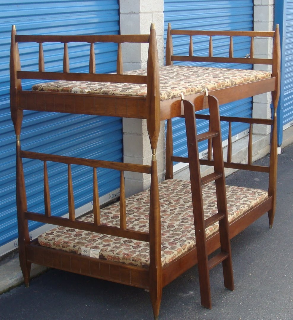 sofa table 84 inches chair ottoman slipcovers nicole wood interiors: sold!! mid century twin bunk beds w ...