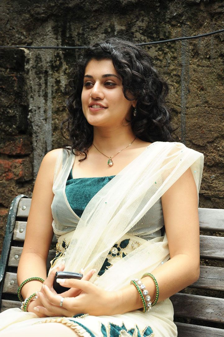Glamorous Taapsee Pannu Hot Images In White Dress