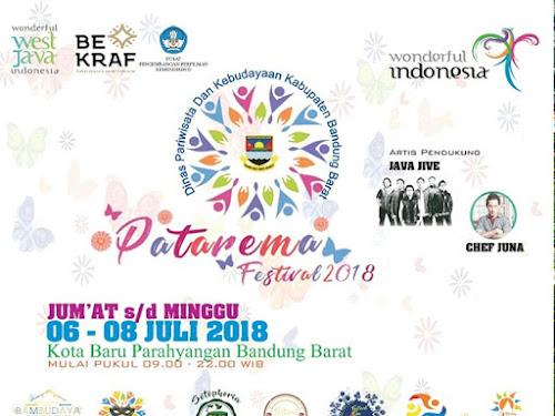 Patarema Festival Kabupaten Bandung Barat 2018