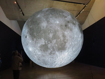 photo of the Moon (art installation made of a photo composite of the Moon)