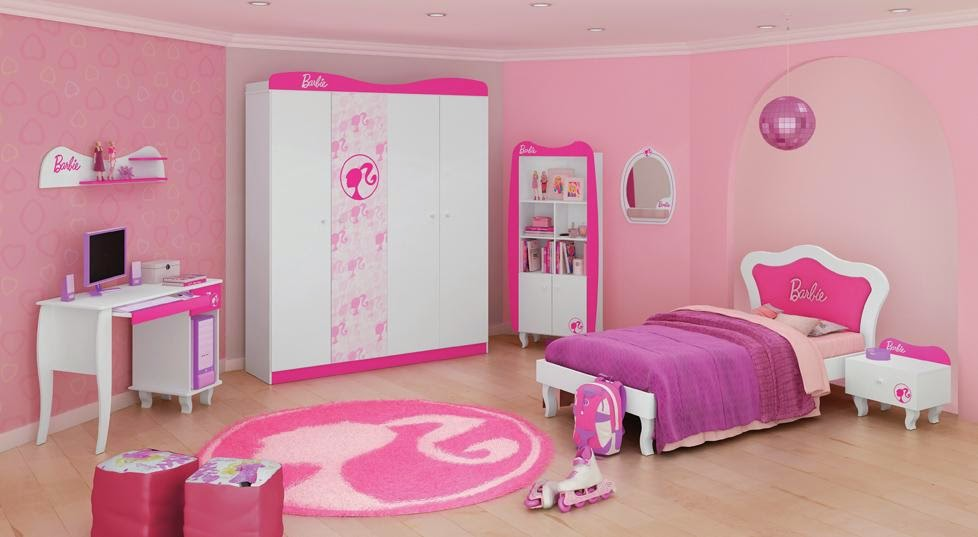 Habitación infantil tema Barbie