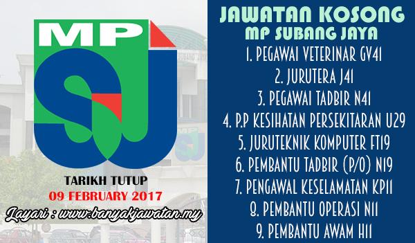 Jawatan Kosong Terkini 2017 di Majlis Perbandaran Subang Jaya (MPSJ)