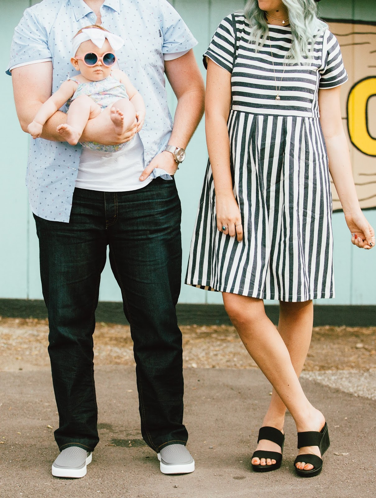 Crocs, Striped Dress, Utah Fashion Blogger