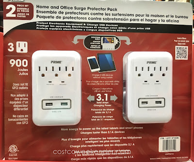 Charge multiple devices safely with the Prime Wire Home and Office Surge Protector Pack