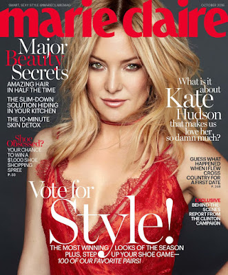 Kate Hudson cover Marie Claire Magazine's October 2016 Issue