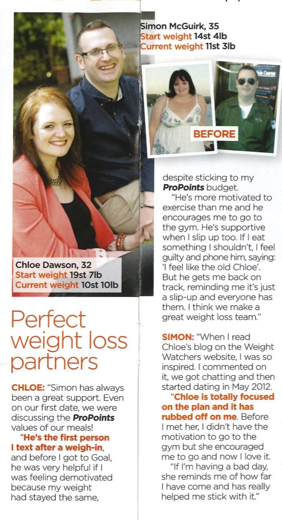 Weight Watchers Valentine Article