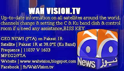 Paksat satellite setting