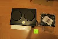 auspacken: Andrew James – 23 Liter Mini Ofen und Grill mit 2 Kochplatten in Schwarz – 2900 Watt – 2 Jahre Garantie