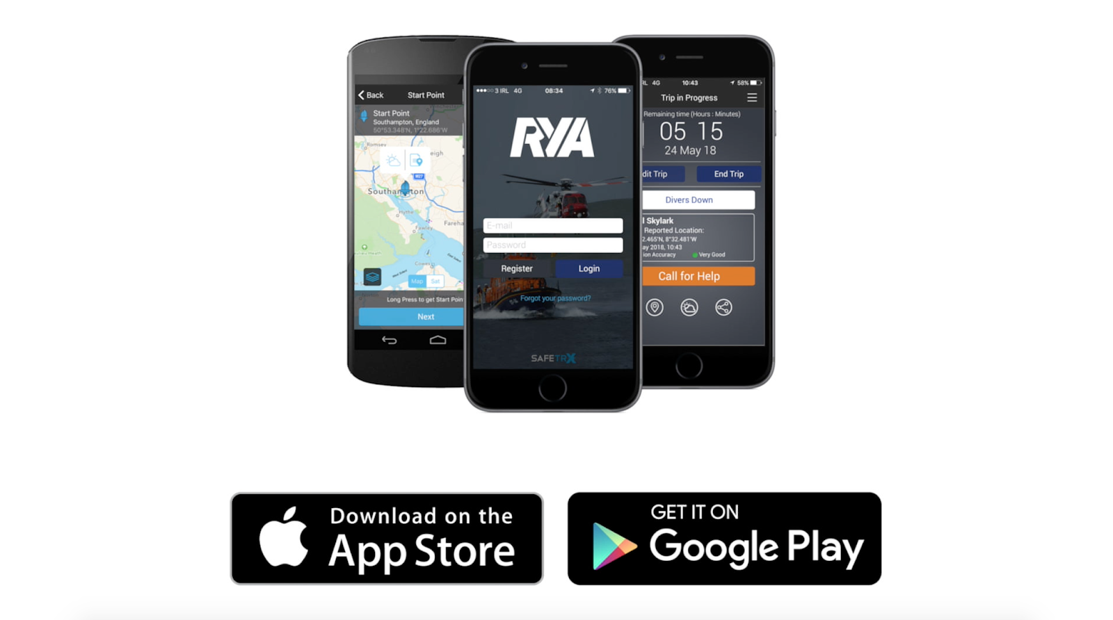 DOWNLOAD the RYA SafeTrx App today! | Maritime and Coastguard Agency