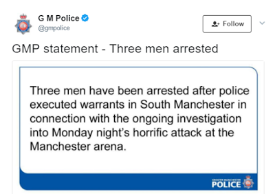 UK Police confirm the arrest of three more men