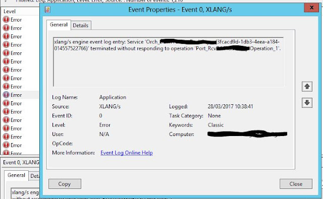 Orchestration xlang exception