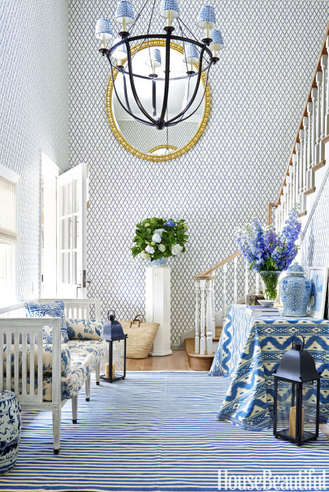 Chinoiserie Chic The Blue And White Entryway