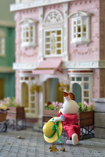 Sylvanian Families Stella and cinnamon rabbit's love story (town series)
