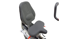Inspire CS3's seat, padded ergonomic seat, adjustable for different user heights, backrest with 3 reclining positions