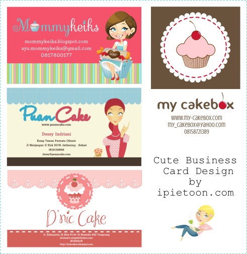 Cute business cardname card design tutor blog the key is match with blog title design header illustration and suitable font so here some of my cute business card design colourmoves