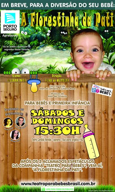 Teatro para Bebês A Florestinha da Pati