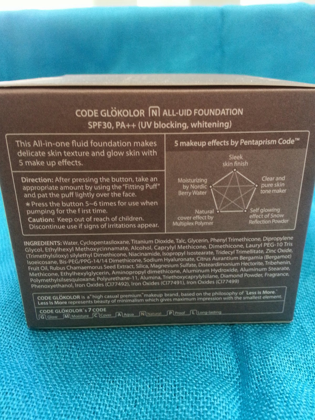 CODE Glokolor N. All-UID Foundation side