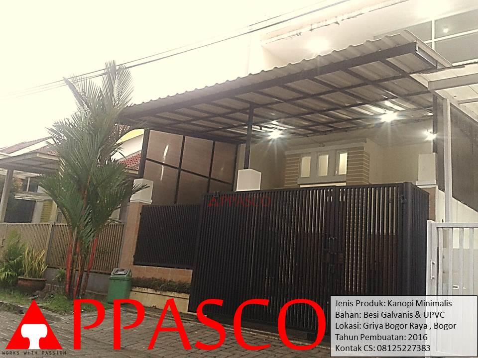 Kanopi Minimalis UPVC di Griya Bogor Raya