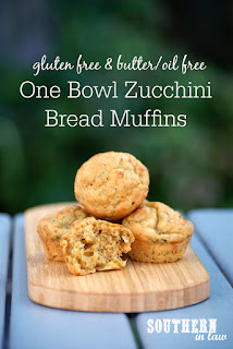One Bowl Zucchini Bread Muffins Recipe Gluten Free