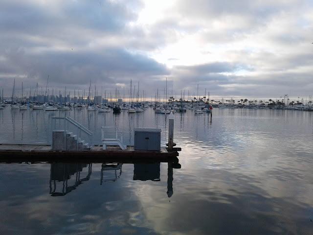 Point Loma Marina with San Diego skyline