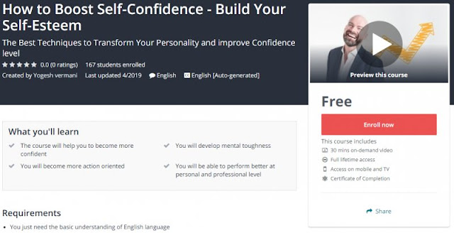 [100% Free] How to Boost Self-Confidence - Build Your Self-Esteem