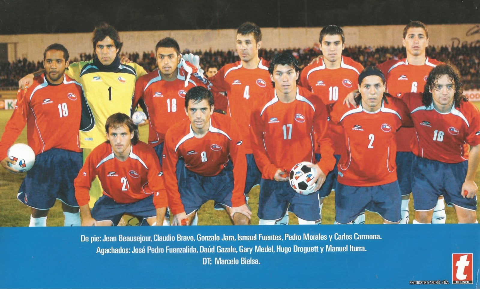 Formación de Chile ante Panamá, amistoso disputado el 7 de junio de 2008