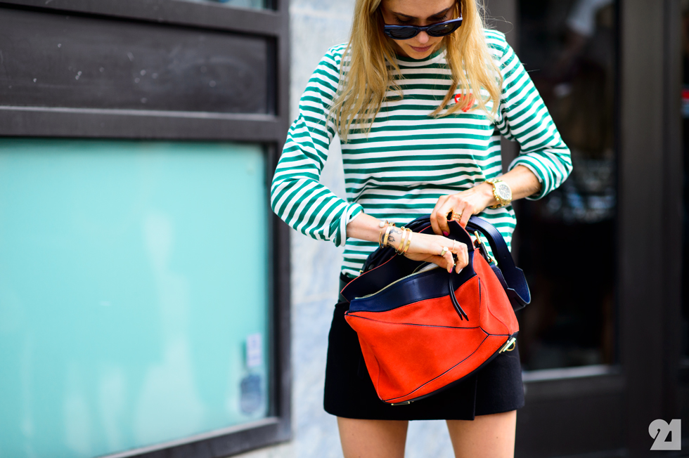 Pernille Teisbaek - Stripes, Stockholm Fashion Week Le 21Eme Street Style