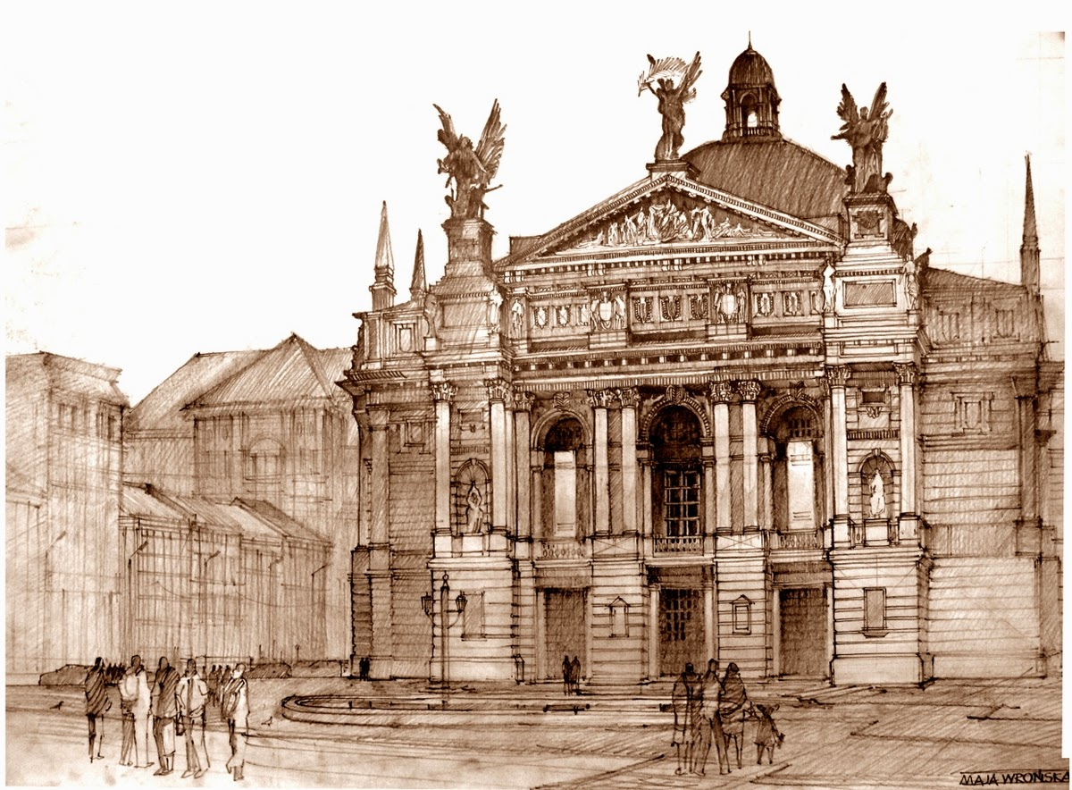02-Maja-Wrońska-Architectural-Paintings-and-Drawing-Sketces-www-designstack-co