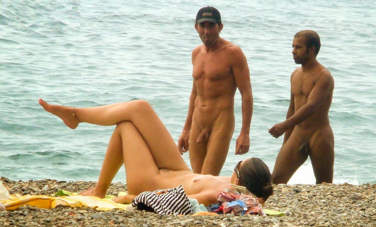 nudist family sunbathing nude