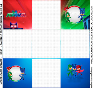 Pj Masks Free Printable Boxes Oh My Fiesta In English