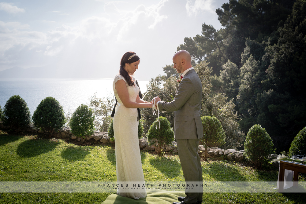 Elopement wedding on Amalfi coast