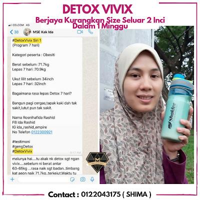Testimoni Detox Dengan Vivix